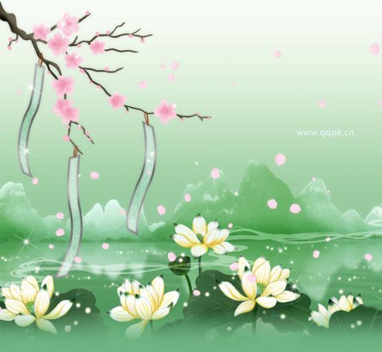 个性qq皮肤图片—花开满地都是情