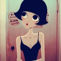 女生可爱的卡通头像 性感的泡芙小姐