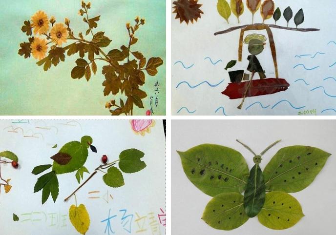 树叶粘贴画图片大全 附制作教程